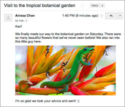 Gmail with images